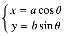 equazione parametrica dell'ellisse